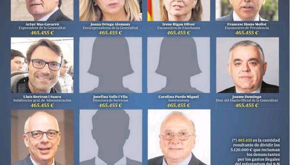 El proceso soberanista de Cataluña acapara las portadas de los periódicos