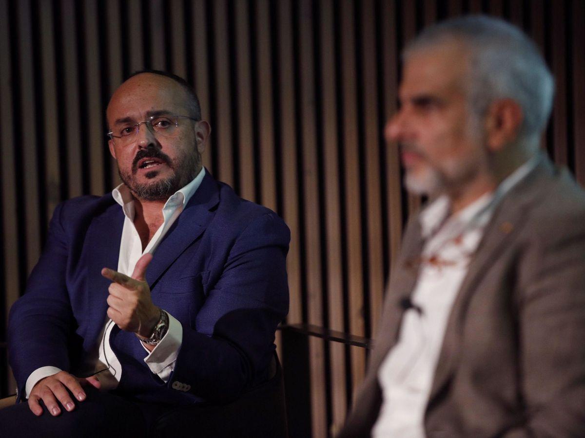 Foto: Alejandro Fernández (PPC) y Carlos Carrizosa (Cs). (EFE)