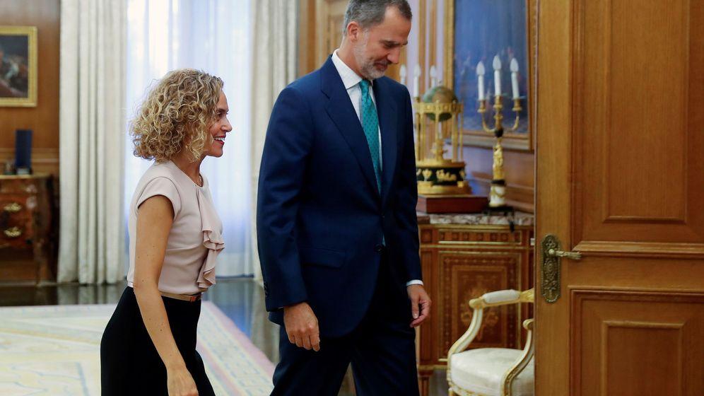 Foto: Felipe VI recibió a la presidenta del Congreso, Meritxell Batet, el pasado jueves en el Palacio de la Zarzuela. (EFE)