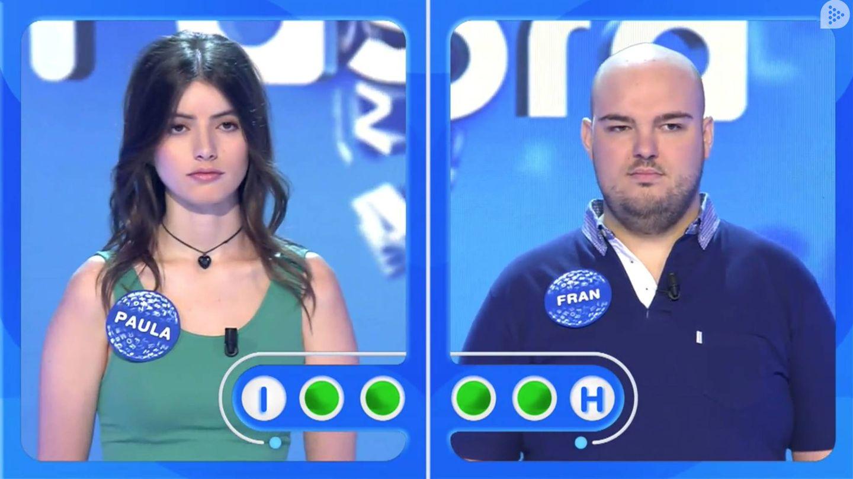 Fran se enfrentó a Paula en 'La silla azul'. (Mediaset)