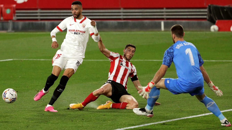 El Sevilla se topa con un inflexible Unai Simón y pierde el tren de LaLiga (0-1)