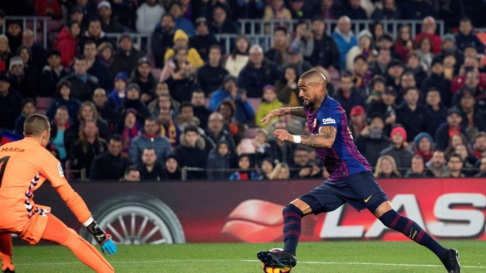 Foto: Boateng durante el partido frente al Valladolid. (EFE)