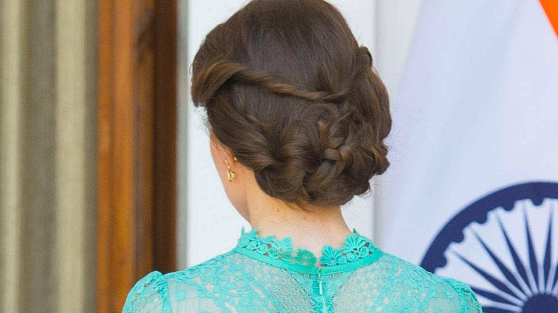 Kate Middleton, durante un viaje oficial a la India. (Getty)