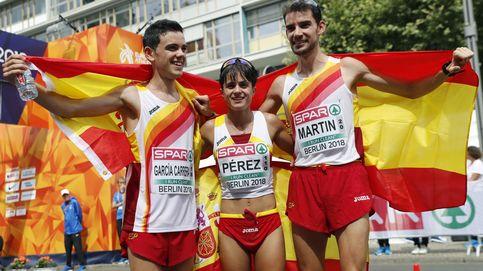 Llueven metales en la marcha: oros de Álvaro Martín y María Pérez; plata de Diego García